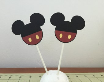 Mickey mouse cupcake toppers (12)