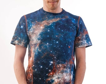 """All over printed Cotton T-Shirt """"Heic1205a"""" Galaxy"""