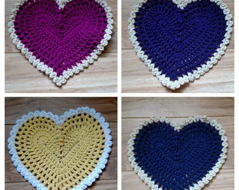 Heart Doily Washable