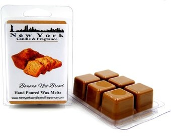 Banana Nut Bread Wax Melts -- HIGHLY Fragrant -- New York Candle & Fragrance