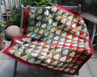 Acorn Quilt - Handmade Quilted Wall Hanging