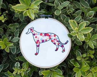 Greyhound Dog Embroidery - Greyhound Outline - gifts for dog lovers