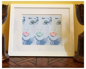 Neon Lips (includes frame)