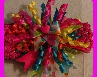 Multicolored korker headband