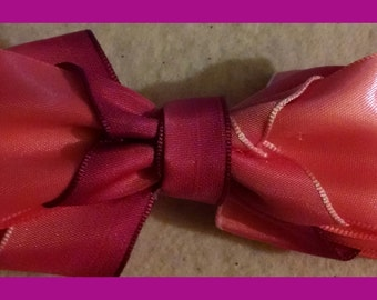 Pink and purple hombre hair bow