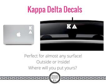 Kappa Delta Decal . Greek Car & Laptop Decal