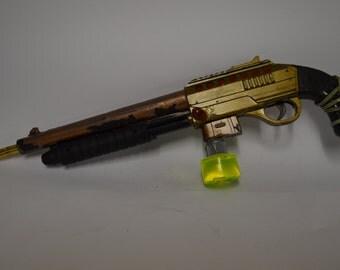 stylised steampunk gun
