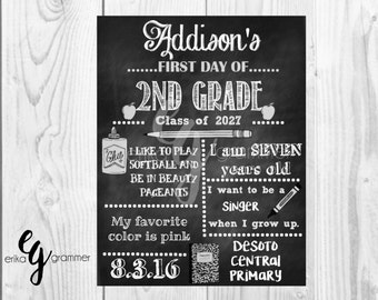 DOWNLOADABLE First Day of School Chalkboard Printable