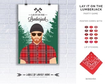 Lay it on the Lumberjack Party Game - A fun twist on a traditional Pin the tail on the Donkey Game