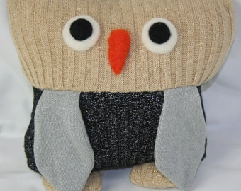 SweaterBaby Owl Pillow (Made from recycled sweaters)