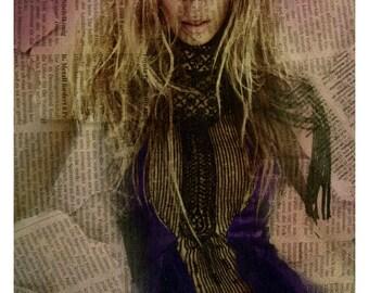 Beyonce knowles lyrics singer pop star poster print art original artist g