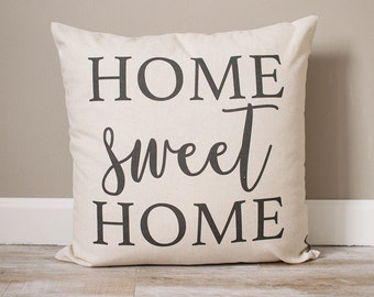 Home Sweet Home Pillow | Rustic Decor | Home Decor | Rustic Decor Ideas | Handmade Pillow | Personalized Pillow | Housewarming Gift