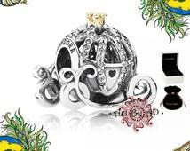 s925 Genuine Pandora Disney, Cinderella's Pumpkin Coach Charm 791573CZ