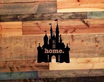 Castle Home Vinyl Decal Car Laptop Yeti Tervis Sticker Window