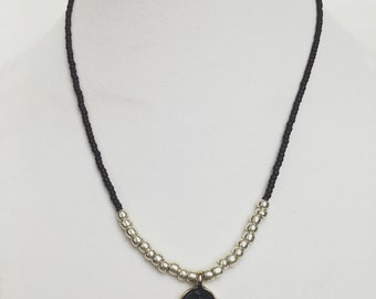 Black Geode Necklace