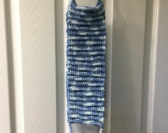 Hand crocheted back scrubber