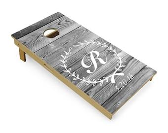 Rustic Wedding Cornhole Boards  Baggo  Wedding cornhole boards  Bean bag toss