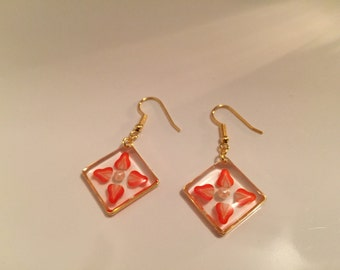 Strawberry  earrings 2