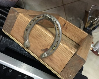 Wooden Horseshoe Serving Tray