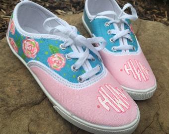 Monogram floral shoes