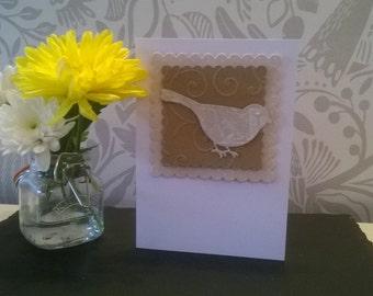 Homemade Card- Birdie