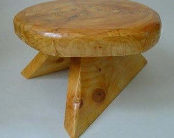 Hand Crafted Wooden Scottish Table Seat Stool And Step
