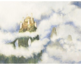 ORIGINAL - The Eyrie - Game of Thrones Watercolor Wall Art Painting