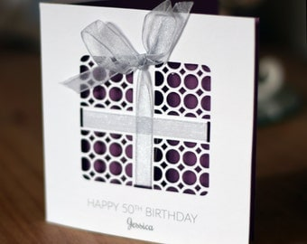 Personalised Birthday Card Present ANY AGE & NAME 18,21,30,40,50