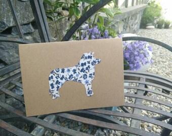 Handmade Collie dog card