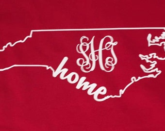 NC home monogram T