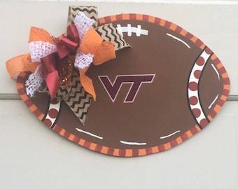 Virginia Tech Decal Football Door Hanger