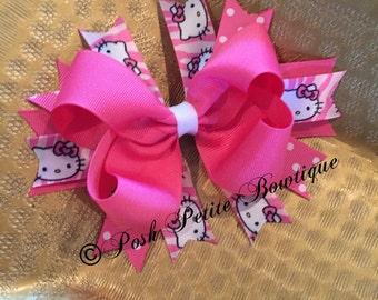 Hello Kitty Bow- Boutique bow