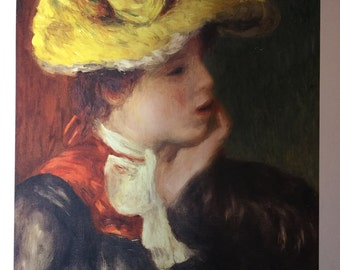Young Girl with Hat by Renoir