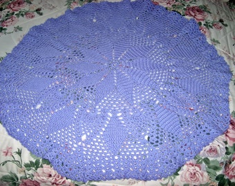 Circlular Soft Periwinkle Baby Throw
