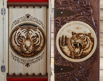 "Backgammon set ""The Tiger Grin"""