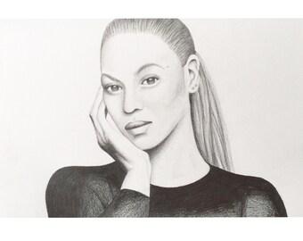 Beyonce A4 Portrait Print