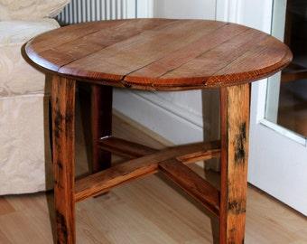 Oak Scotch Whisky Barrel side table