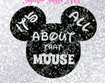 Mickey head SVG/Disney SVG File/It's all About that Mouse/Mickey Mouse Silhouette File/Instant Download/pdf/png/dxf/jpeg