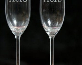 Hers and Hers Champagne Flutes