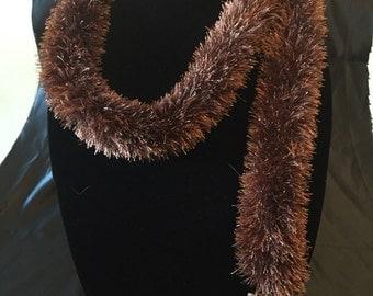 Bronze yarn scarf