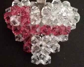 Swarovski Crystal Puffy Heart