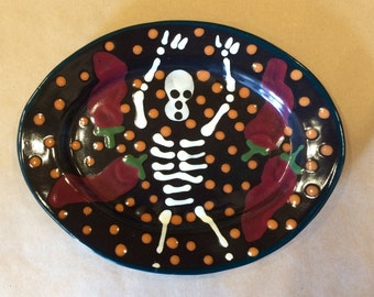 Day of the Dead Oval Lunch Plate