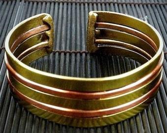 Copper and Brass Architecture Cuff Cuff Bracelet