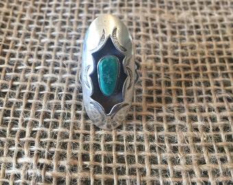 Silver-Malachite ring