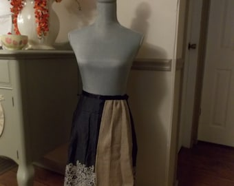 Black and Tan Polka Dot Apron