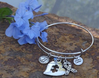 Autism Awareness Bangle Bracelet