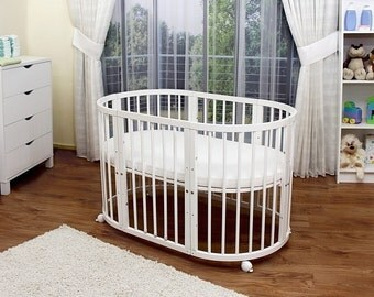 FREE SHIPPING - Painted wooden baby crib/ toddler bed