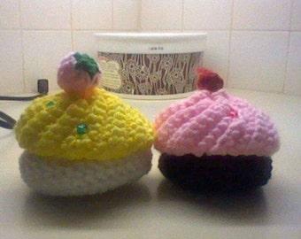 Crochet Amigurumi Cupcakes