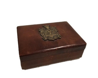 Leather Box with Crest