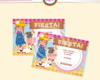 FARM girls invitations